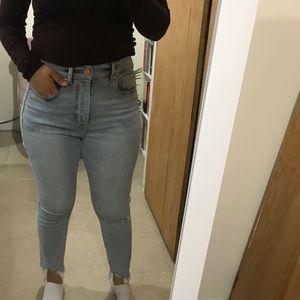 High waist skinny loft denim